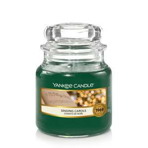 SMALL JAR SINGING CAROLS - Yankee Candle - £6.29 + £2.99 Delivery @ Clinton Cards