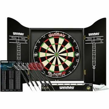 Winmau Blade 5 Championship Dartboard, Cabinet & Darts £59.99 @ Argos