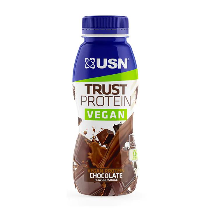 USN Trust Protein Vegan Chocolate Shake 310ml, 62p plus 15% off everything using code at Holland and Barrett
