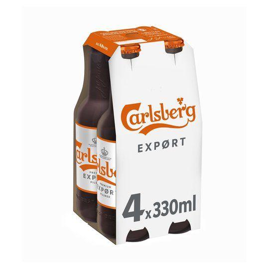 4.8% Carlsberg Export 4 X 330ml £2.75 @ Home Bargains