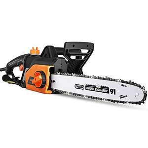 1800W Chainsaw, 35cm Bar, Electric Chainsaw with Tool-Free Chain Tensioning £43.79 Sold by Tooleader Direct EU and Fulfilled by Amazon