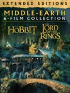 Middle-Earth Extended Editions 6 Film Collection 4K (MS Digital Download) (Lord of the Rings & The Hobbit) £38.99 Microsoft Store