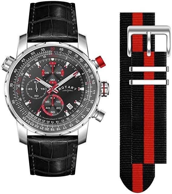 Rotary Men's Chronograph Black Leather Strap Watch - £59.99 @ Argos