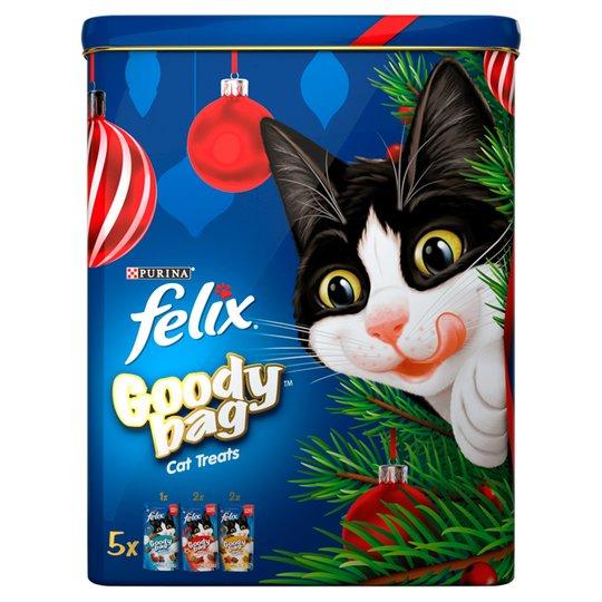 Felix Christmas Goody Tin 5 Pack Cat Treats 300G £2.50 @ Tesco clubcard price
