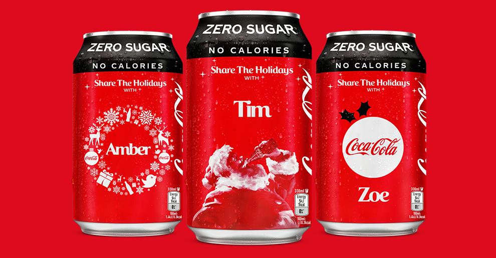 Free Personalised Festive Coca-Cola Cans @ Coca-Cola