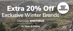 Extra 20% off with voucher Code @ Millets