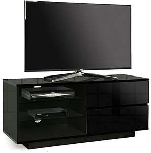 "Centurion Gallus Gloss Black with 2-Black Drawers & 3-Shelf 26""-55"" Cabinet TV Stand Used Like New £39.43 @ amazon warehouse"