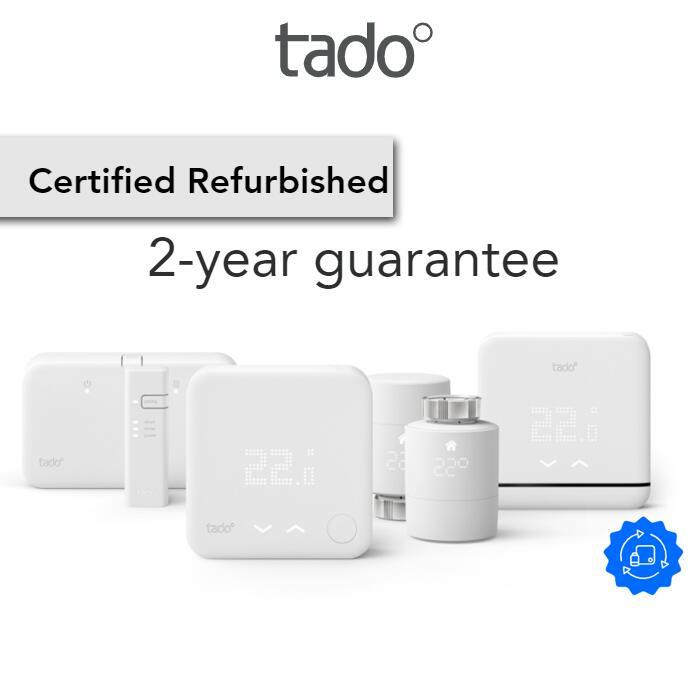 Tado Certified Refurbished Smart Heating Offers - EG: Starter Kit - Wireless Smart Thermostat V3+ £115 + 2 Year Guarantee @ Tado