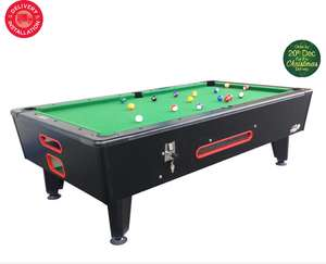 Installed Roberto Sport 7ft Top Slate Pool Table Operated by £1 Coin, from Costco - £2799.99