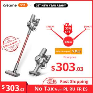 Dreame V11 Handheld Wireless Vacuum Cleaner - delivered from EU£245.40 @ AliExpress Dreame Official Store