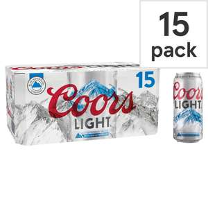 Coors light 15 x 440ml £10 (clubcard price) @ Tesco