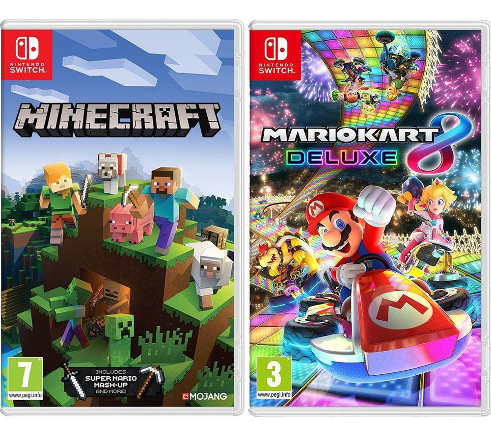 NINTENDO SWITCH Minecraft & Mario Kart 8 Deluxe Bundle £54.99 @ Currys