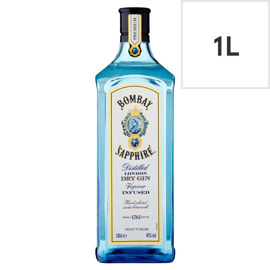 Bombay Sapphire Gin 1 Litre £20 (Clubcard Price) @ Tesco