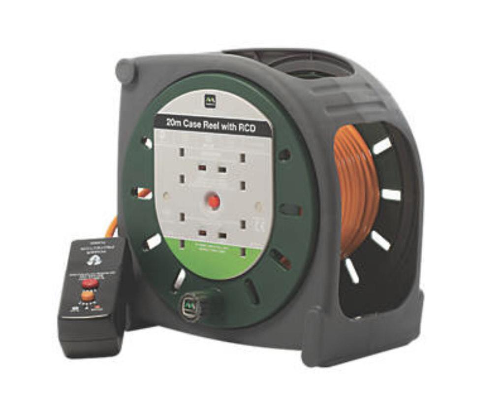 Masterplug HBT2010BQ/4RCD-XD 10A 4-Gang 20m Cable Reel 240V (77639) £28.99 Screwfix click & collect