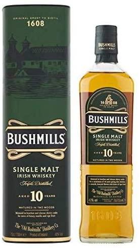 Bushmills 10 Year Old Single Malt Irish Whiskey 70cl £25 Delivered @ Amazon