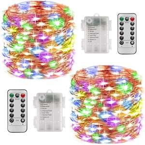 100 led battery Christmas lights twin pack. £10.99 prime £15.48 non prime Sold by DIMAX-UK and Fulfilled by Amazon