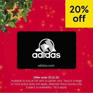 20% off Adidas & Wayfair Gift Cards at Tesco INSTORE ONLY - selected stores