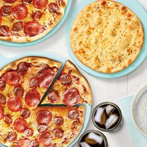 Meal Deal - 2 x 10 inch Deli Counter Pizzas + Cheesey Garlic Bread + 1 litre to 1.25 litre Coke / Fanta = £5.50 (instore) @ Morrisons
