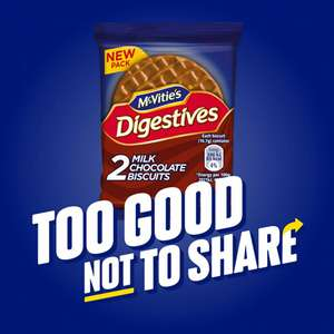 Free McVitie's On The Go Chocolate Digestives packets at McVities via Twitter