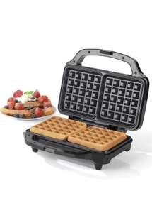 Salter EK2249 Deep Fill Waffle Maker with XL Non-Stick Cooking Plates 900W - £18.00 Prime / £22.49 nonPrime Amazon