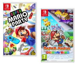 Super Mario Party // Paper Mario: The Origami King (NIntendo Switch) £35 eachDelivered @ AO