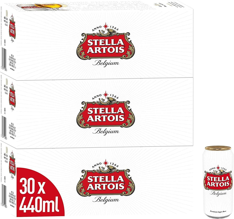 Stella Artois Lager Beer Cans 30 x 440ml - £23.33 Amazon