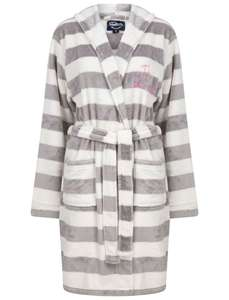Women's Surry Striped Soft Fleece Tie Robe Dressing Gown with Hood £15.99 delivered using code @ Tokyo Laundry