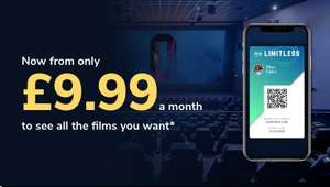 Odeon Limitless Membership £9.99 a month for 3 months