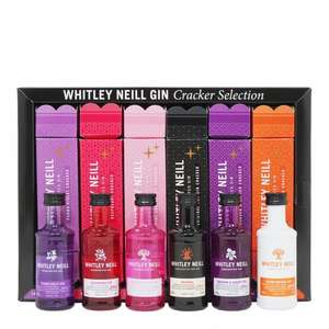 Whitley Neill Christmas Cracker Gift Set - 6x5cl £17.90 at The Whisky World (+£4.95 Shipping)