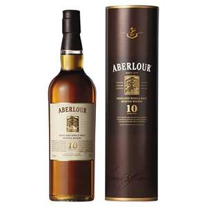 Aberlour 10 Year Old Single Malt Scotch Whisky, 40% ABV, 70 cl (Double Cask Matured) - now £26 at Amazon