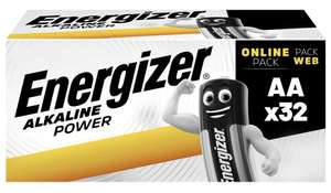 Energizer AA Batteries, Alkaline Power Double A Batteries, 32 Pack £9.59 prime / £14.08 nonPrime at Amazon