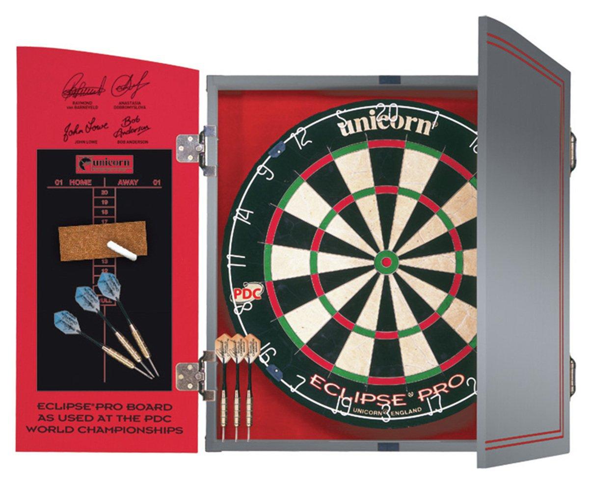 Unicorn World Championship Dartboard, Cabinet & 2 Darts Sets £39.99 free click and collect at Argos
