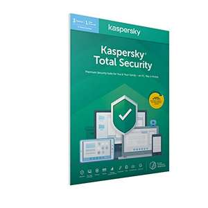 Kaspersky Total Security 2021 - 3 Devices 2 Years Antivirus, Secure VPN and Password Manager - Email acitvation £19.99 Amazon