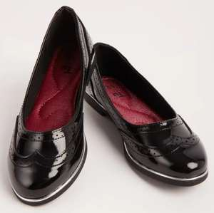 Girls Black Patent School Ballerina Shoes £4.20 at Sainsbury's Tu Clothing - £3 click & collect / £3.95 delivery