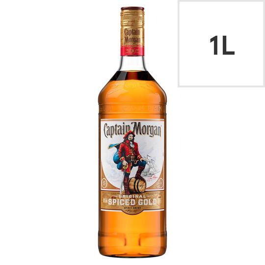 Captain Morgan Original Spiced Gold Rum 1 Litre £16 (Clubcard Price) - £16 @ Tesco