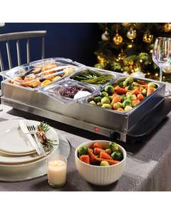 Ambiano Buffet 4 container Food Server/Warmer £32.94 delivered @ ALDI