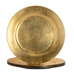 Argon Tableware melamine Metallic Charger Plates (set of six) in Brushed Gold colour for £5.49 delivered using code @ Rinkit