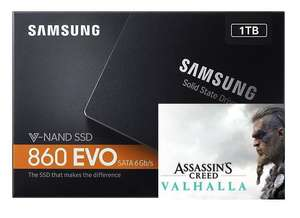 """SAMSUNG 860 EVO 1TB 2.5"""" SSD 550/520MB/s R/W + Assassin's Creed Valhalla (UPLAY) PC Game - for £104.99 Delivered @ Box"""