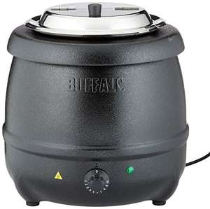 Buffalo Black Soup Kettle 10Ltr/360X345mm Stainless Steel Electric Jug Used Like New £39.66 Amazon Warehouse