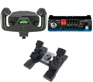 SAITEK Pro Flight Bundle - Rudder Pedals, Switch Panel & Yoke System with free home or local store deliver £250 @ Currys