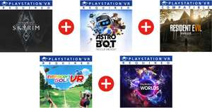PlayStation VR MegaPack (Games Only) - Resident Evil 7, Skyrim, Astro Bot, Everybody's Golf & VR Worlds [PS4 / PS5] £29.36 @ Eneba / GamStop