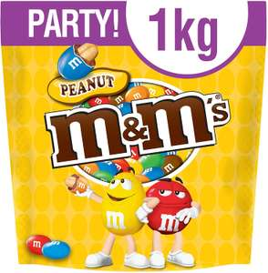 M&M's Peanut Party Bulk Bag, 1 kg £4.80 Amazon Fresh - FREE same-day delivery on orders over £40.00