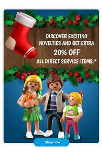 20% off certain ranges - all direct service items at playmobil