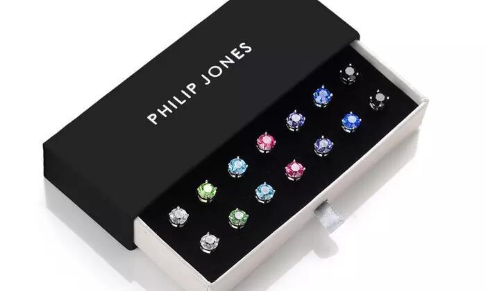 7 Pairs of Philip Jones Swarovski crystal earrings £12.98 + £1.99 del at Groupon