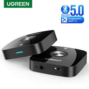 UGREEN Bluetooth 5.0 Audio Receiver with Qualcomm aptX Low Latency Support for £10.27 delivered @ AliExpress / UGREEN Officialflagship Store