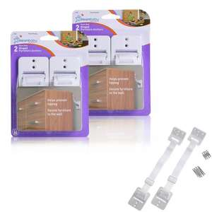 Dreambaby Heavy-Duty Hinged Furniture Straps - Bonus 2 Pack (4 Straps Total) £3.99 For Click & Collect @ Argos