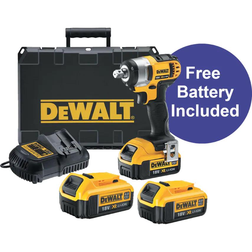 Dewalt DCF880M2-GB Impact Wrench with 3x 4ah batteries £209.99 @ Zoro