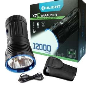£100+ off Olight X7R 12000 lumen ultra bright USB rechargeable LED searchlight £151.77 at Olight