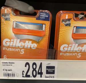 Gillette Fusion 5 blades x6 £2.84 in store Asda Harlow
