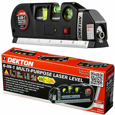 Dekton 6 in 1 Laser Level Bubble Spirit Level Tape Measure Metric Tape Ruler - £29.99 @ eBay / ThinkPrice